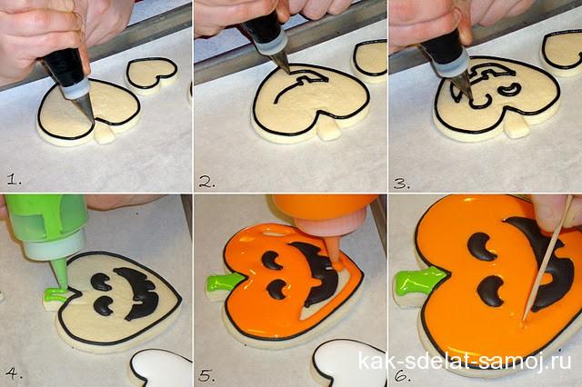 рецепт печенья на хэллоуин с фото