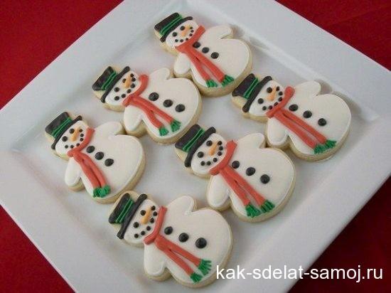 Детское новогоднее печенье
