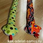 Как сделать змею своими руками (мастер-класс)