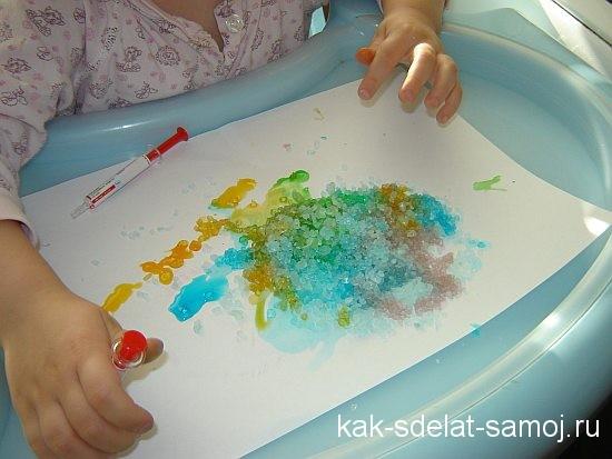как красить соль