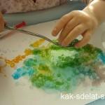 Как красить соль с ребенком — Крашеная соль