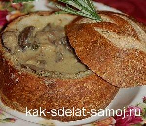 Как приготовить жульен с грибами в булочке