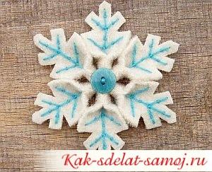 Фетровые снежинки, фото