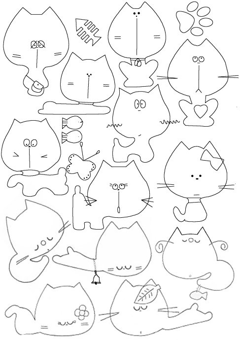 Из фетра своими руками схемы шаблоны для детей 433