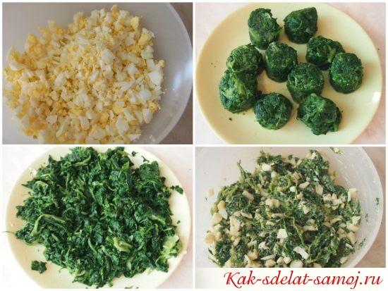 Рецепт вкусного пирога с яйцами и шпинатом