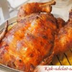 Рецепт целой курицы в аэрогриле, очень нежная!