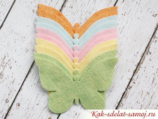 фетровые бабочки, фото