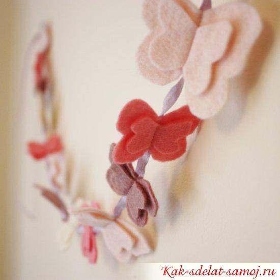 Декоративные бабочки из фетра, фото