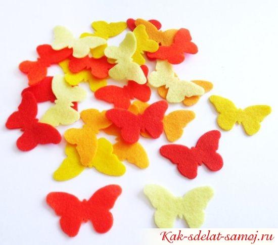 вырезанные из фетра бабочки