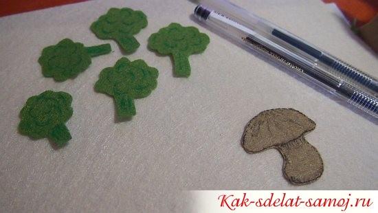 грибы и брокколи