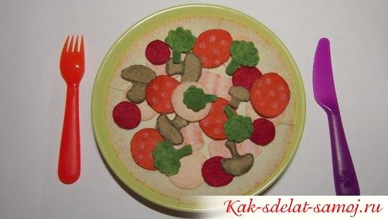 с овощами и колбасками