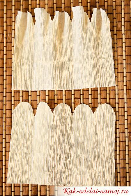 процесс изготовления лепестков