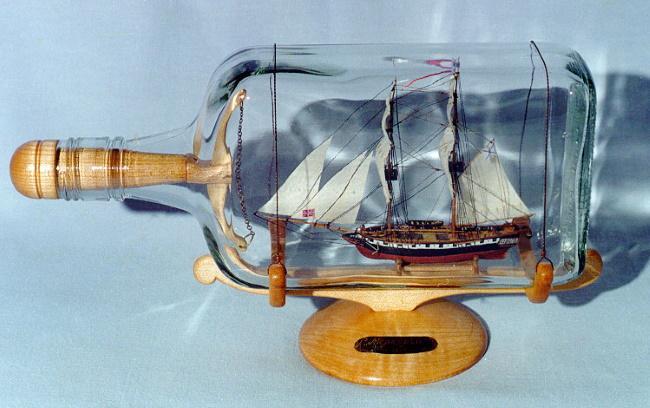 Корабль в бутылке - идея, что подарить парню