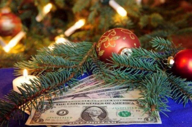 денежки под елкой